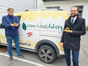 Beitrag Raiffeisenbank Stockerau - mit Honig vomWaschberg
