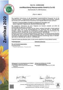 BIO Zertifikat 2020 Seite 2